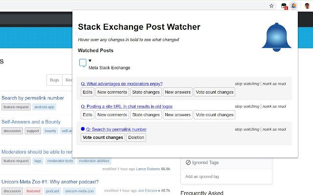 Stack Exchange Post Watcher