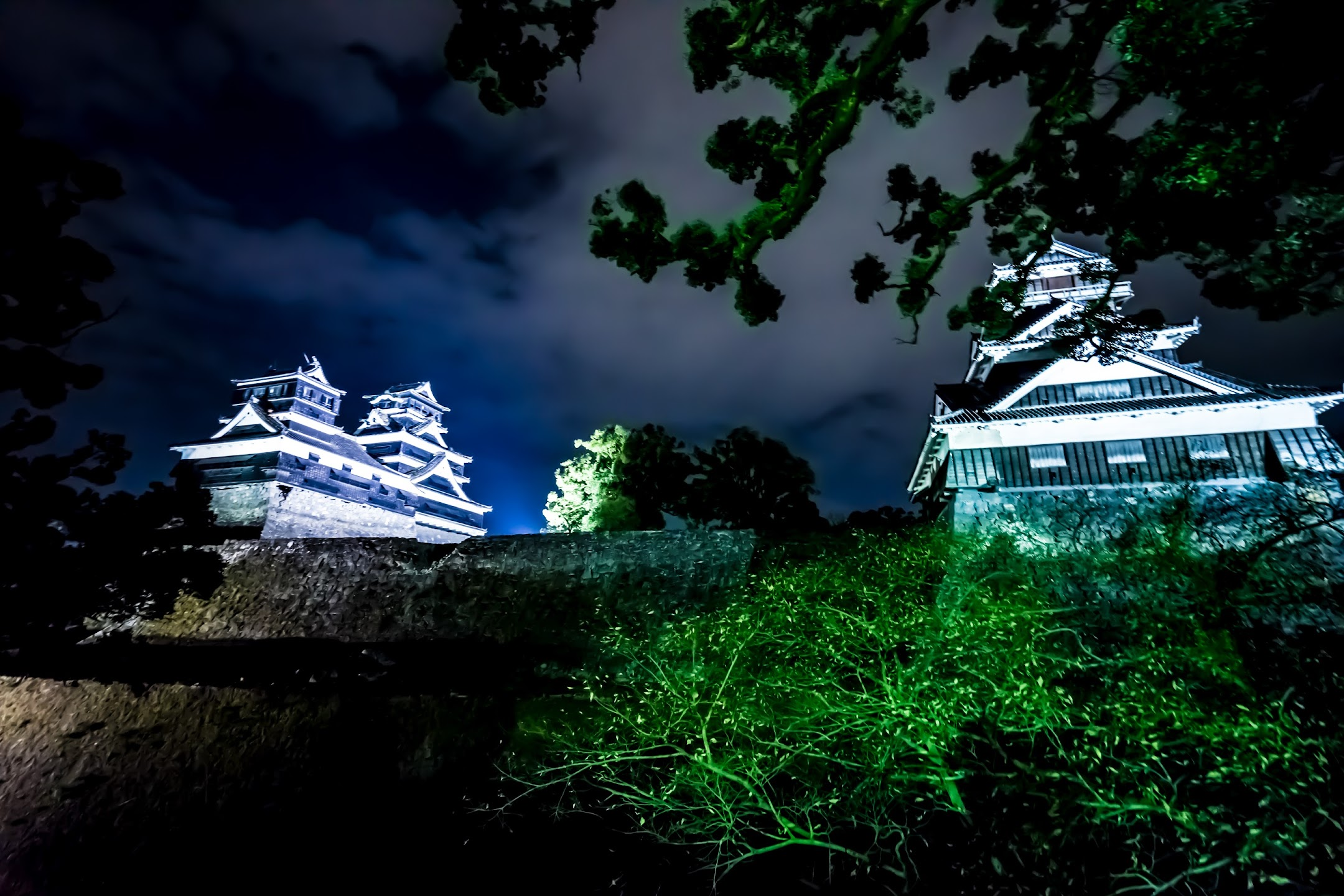 Kumamoto Castle Kato Shrine light-up3