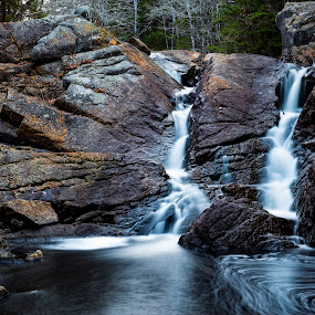 Pockwock Falls by Heather Campbell - Landscapes Waterscapes ( water, nature, waterfall, long exposure, landscape, whirlpool,  )