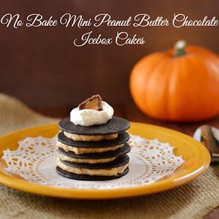 No Bake Mini Peanut Butter Chocolate Icebox Cakes