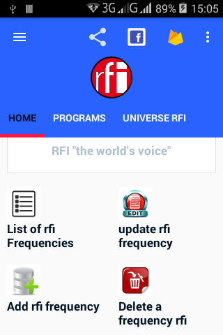 RFI frequencies worldwide- screenshot
