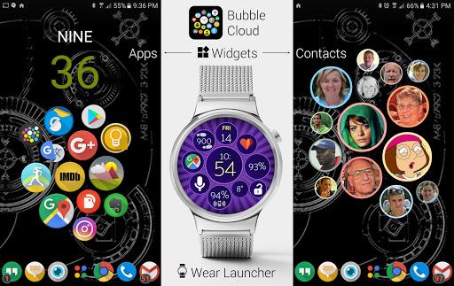 Bubble Cloud Wear Launcher Watchface (Wear OS) 9.39 screenshots 2