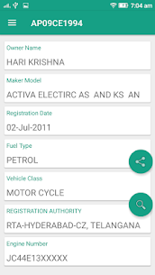 RTO Vehicle Info – Free VAHAN Registration Details 8