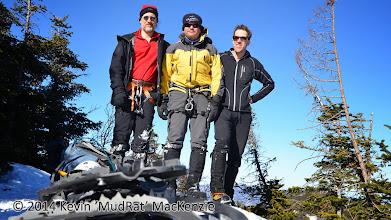Photo: MudRat, NP & Richard on Upper Wolfjaw summit.