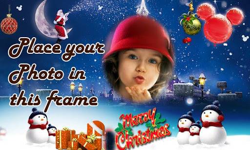 Christmas photo frames effect