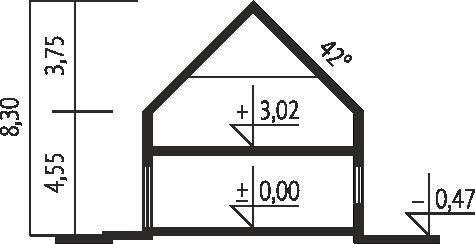 E1 II ECONOMIC wersja A - Przekrój