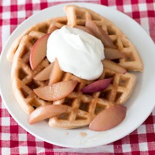 Bourbon Peach Waffles