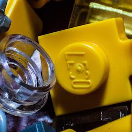 LEGO! by Mark Luyt - Artistic Objects Toys ( macro, lego, toys, macro photography, yellow,  )
