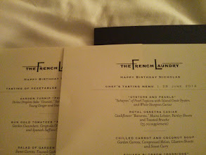 Photo: The personalized menus for Nick :)