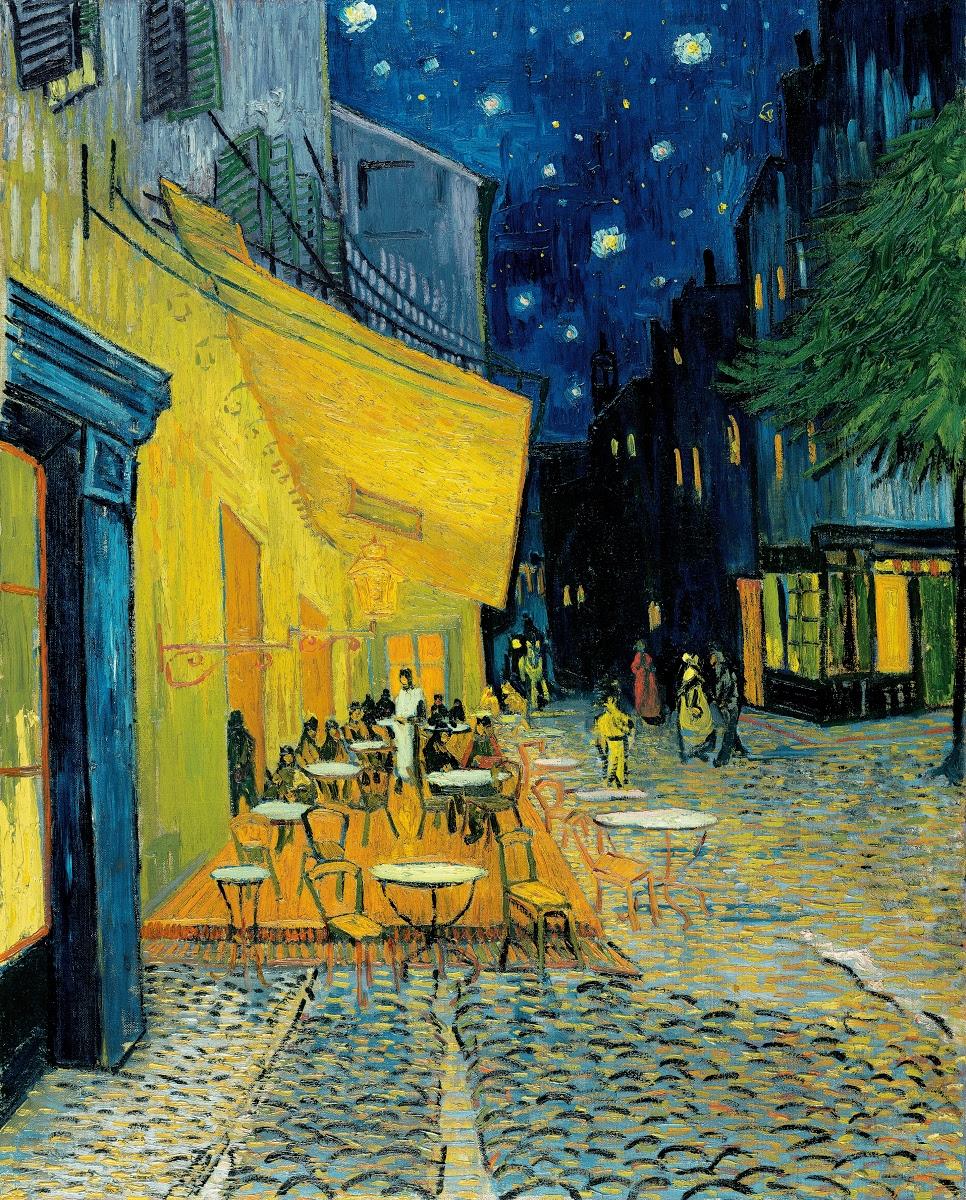 Terrace Of A Café At Night Place Du Forum Vincent Van