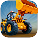 Kids Vehicles: Construction + puzzle coloring book icon