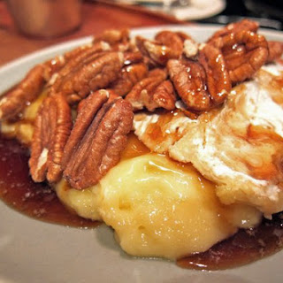 Baked Brie With Pecans.