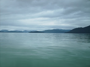 Photo: Crossing Stikine Strait toward Kadin and Liesnoi Islands.