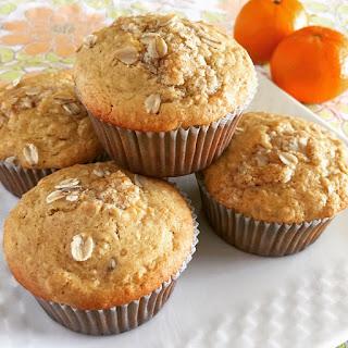Gluten Free Orange Oat Muffins.