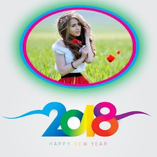 2018 New Year Photo Frames Greetings Wishes - náhled