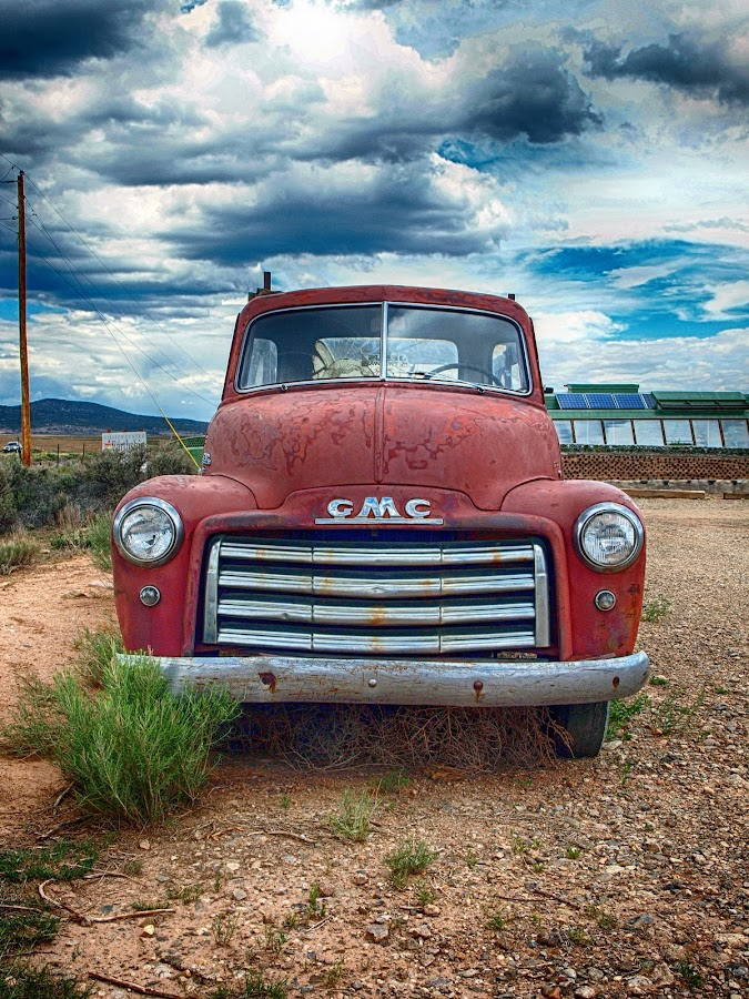 Forgotten GMC by Heidi Medina - Transportation Automobiles ( clouds, truck, gmc, new mexico, #photowalkforacause,  )