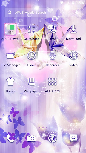 Thousand Paper Crane APUS Launcher Theme - screenshot