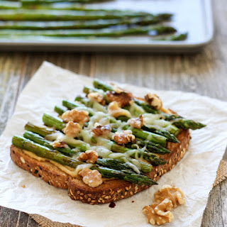 Balsamic Asparagus and Hummus Toast Recipe