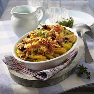 Potato, Mushroom and Bacon Casserole