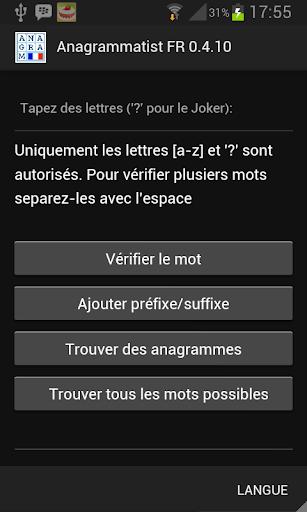 Anagrammatist FR  screenshots 1