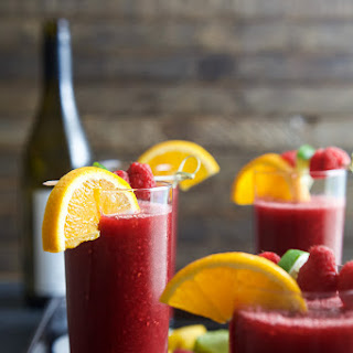 Frozen Raspberry Peach Sangria.