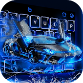 Neon Water Sports Car Stylish Reading Android APK Download Free By Love Cute Keyboard