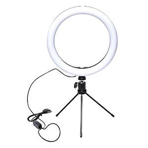 Lampa circulara Ring Light 128 LED cu trepied, unghi 360, trepte reglabile de lumina