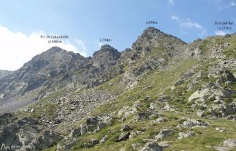 Photo: Memorizamos las dos cotas a superar que forman parte de la cresta.