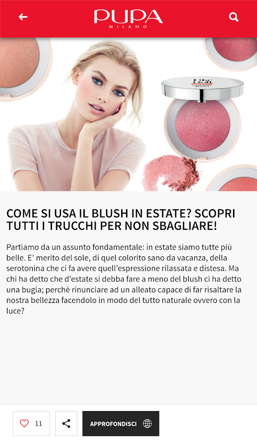 PUPA Milano make up & nail art- screenshot