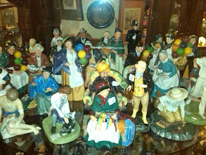 Photo: Each pottery company had their own style, these Doulton's well glazed and fun in their conception.