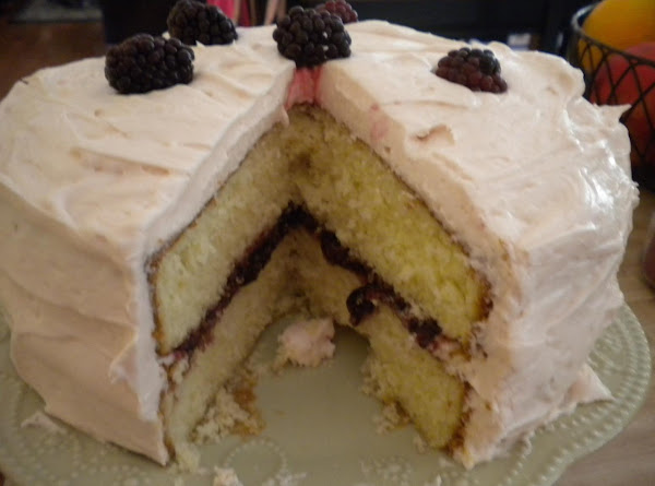 Blackberry Filled Yellow Butter Cake Recipe