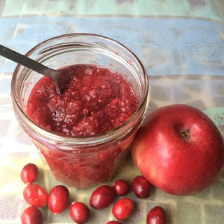 Raw Cranberry Apple Chia Seed Jam