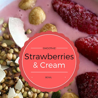 Strawberries + Cream Kefir Gut Strengthening Smoothie Bowl Recipe