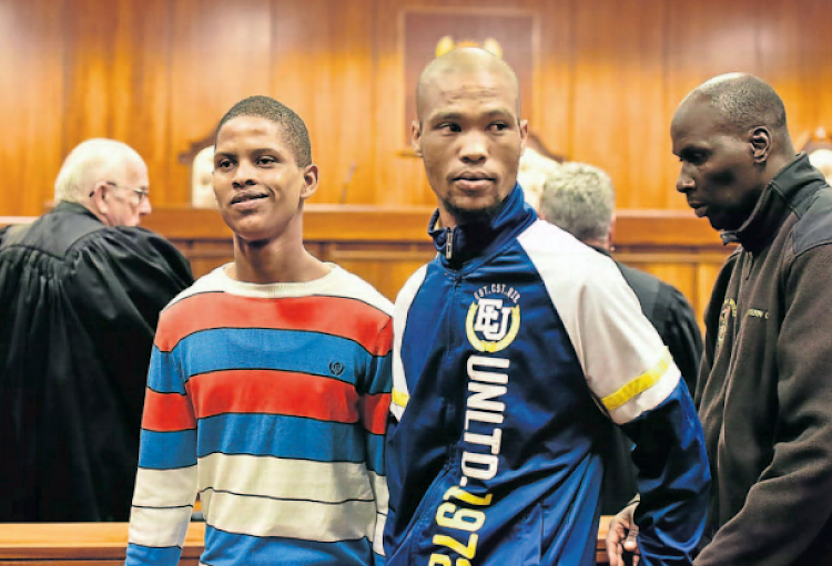 Eston Afrikaner, left, and Deswin Kleinbooi have been sentenced to life for the murder of Naeem Desai. File picture