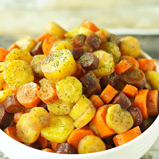 Slow Cooker Carrots with Herbed Honey Butter Sauce.