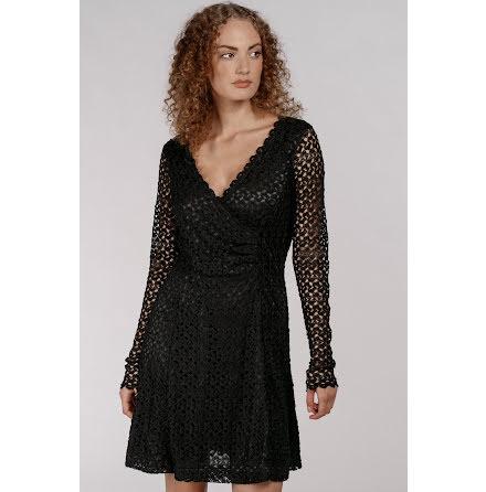 Crochet Lace Short Dress Black - Pernilla Wahlgren