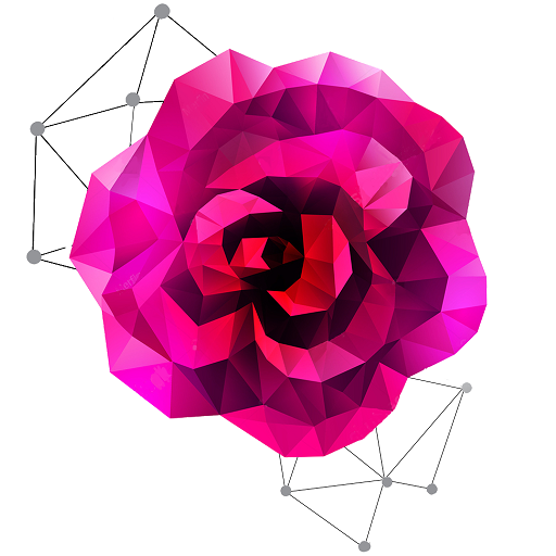 Flowers Poly Art: Color by Number,Coloring Puzzle Icon