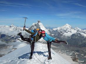 Photo: Breithorn 4164m, Matterhorn behind