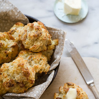 Blue Cheese and Bacon Drop Biscuits