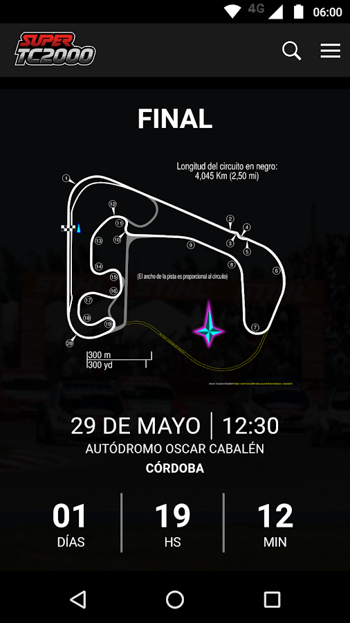 Súper TC2000: captura de pantalla