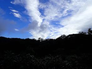 雲が晴れ上空は良い天気に