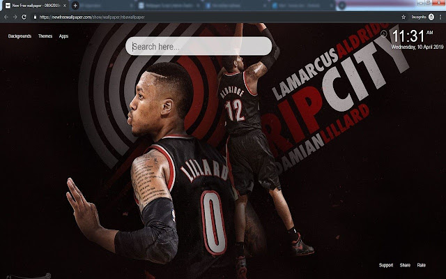 NBA wallpapers& New Tab