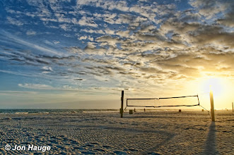 Photo: Volleyball nets at Gulf Shores Beach  on Tuesday, November 8,2011.