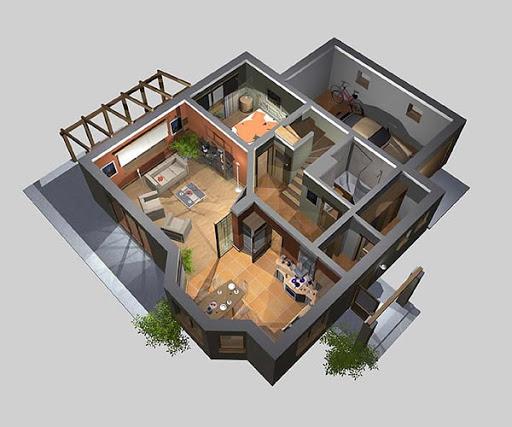 APS 034 - Rzut parteru 3D