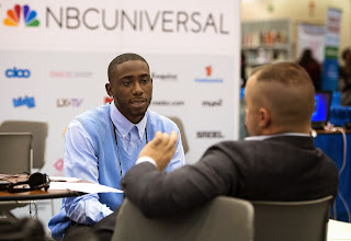 Photo: NABJ Career Fair and Exhibition at the 2014 National Association of Black Journalist (NABJ) convention in Boston, Mass. July 30-Aug 3.  (Photo by Harry E. Walker)