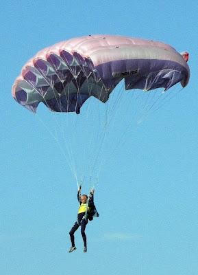 L'atterraggio del paracadutista di c