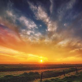 Super California Cunset by Matthew Clausen - Landscapes Sunsets & Sunrises ( sky, usa, sunset, california, clouds, landscape )