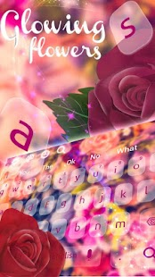 Dazzling Flowers keyboard Theme - náhled