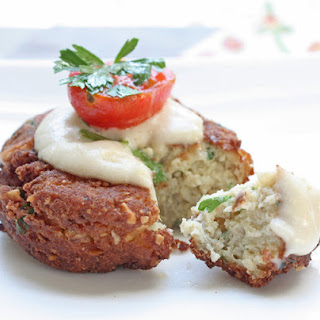 Low Carb Falafel with Tahini Sauce (Gluten Free).