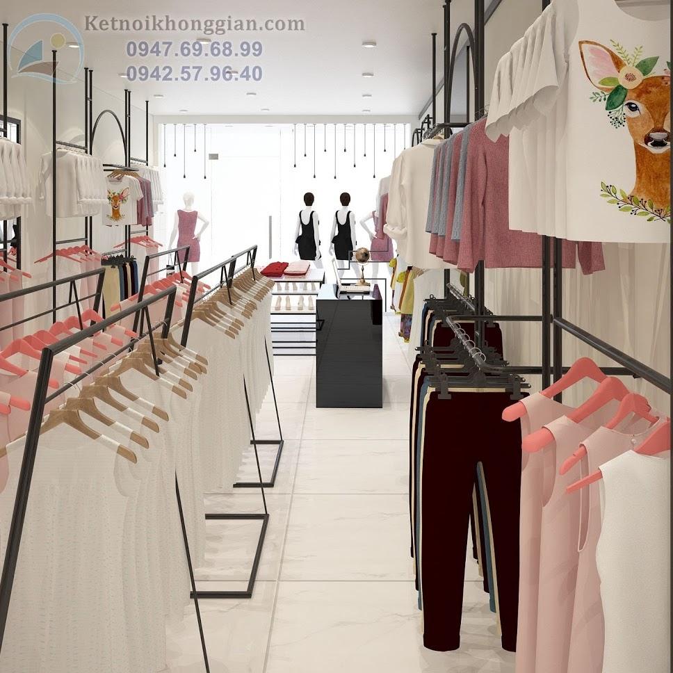thiết kế shop thời trang công sở đẹp và độc